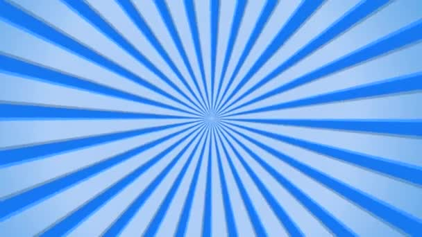 Blue abstract rotating Starry Sun burst rays, HD25i seamless animated motion background