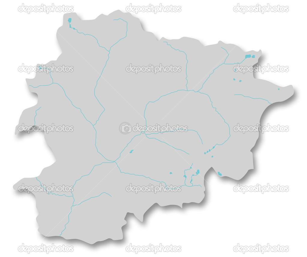 Kaart Van Andorra Stockfoto C Mipimages 28034243