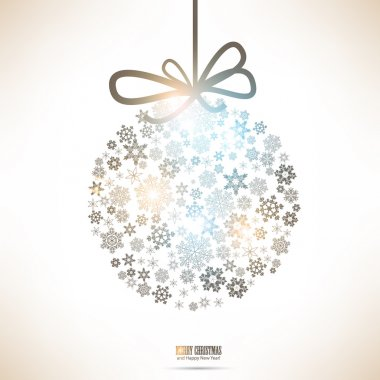 Christmas ball made from snowflakes. Christmas background clip art vector