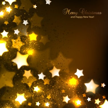 Elegant Christmas background with stars and place for text. Vect