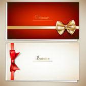 kolekce dárkových karet a pozvánky s pásky. vektor ba