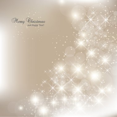 Elegant Christmas background with snowflakes and place for text. Vector Illustration. stock vector