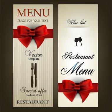 Menu design for Restaurant or Cafe. Vintage vector template