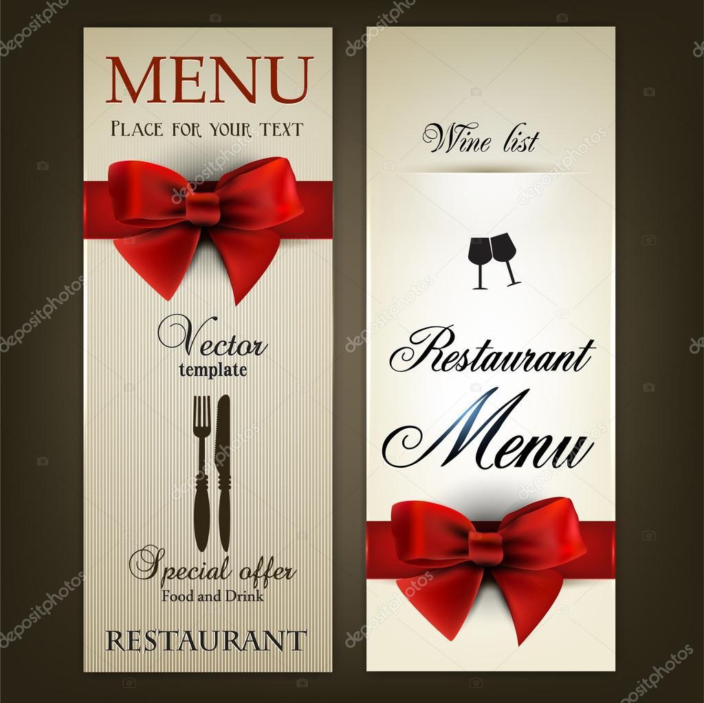 Menu design for Restaurant or Cafe. Vintage vector template ...