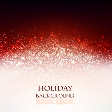 Elegant Christmas Red background with snowflakes and place for text. Vector Illustration. clip art vector