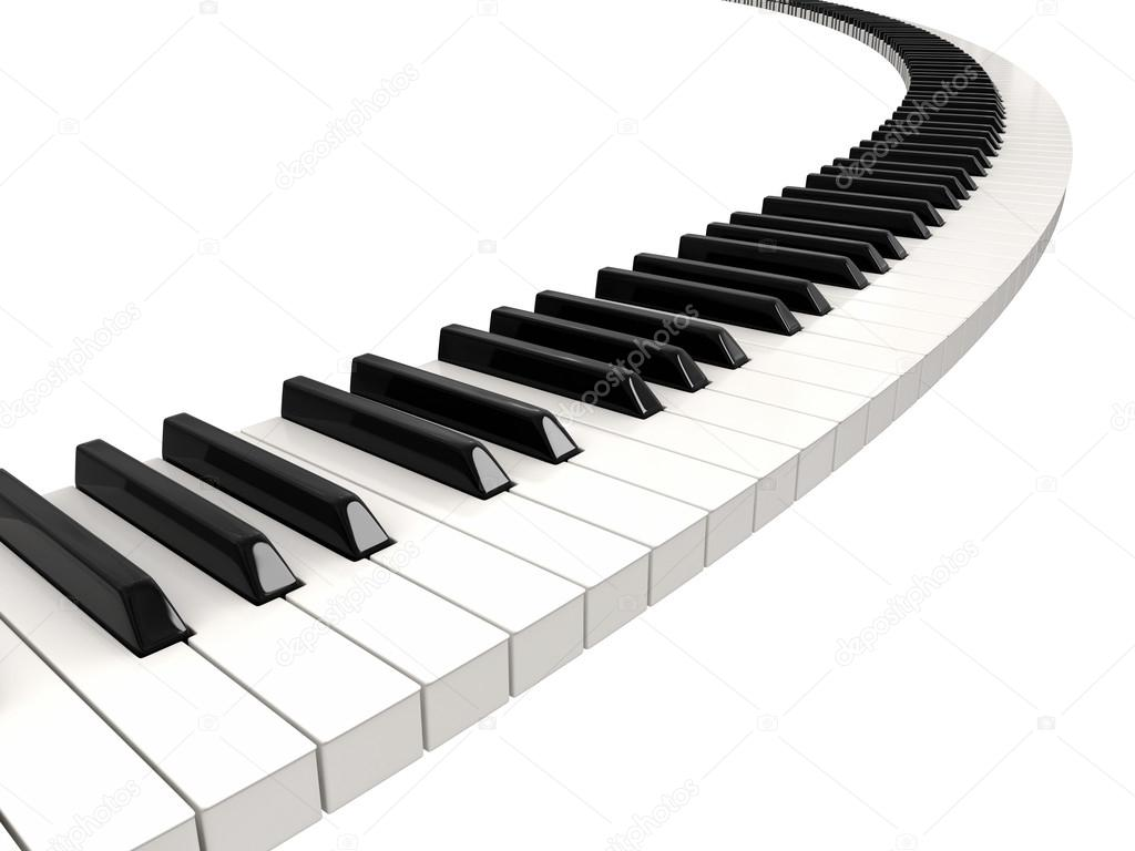 piano keyboard wave stock photo panama555 31781825. Black Bedroom Furniture Sets. Home Design Ideas
