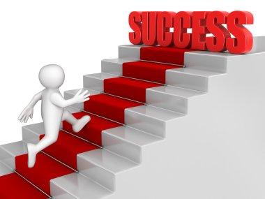 Man running to Success