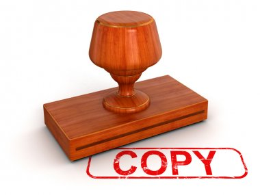 Copy red stamp