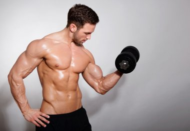 Handsome muscular young