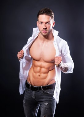 Handsome muscular young man