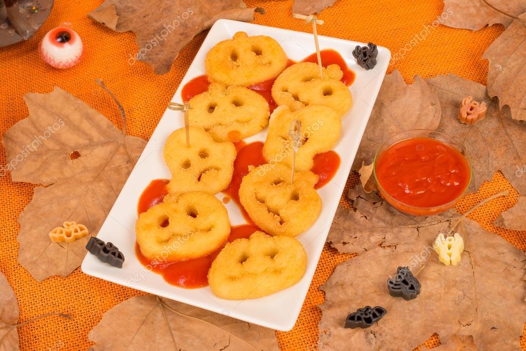 Halloween Kinder Party Snack Stockfoto Olafspeier 34183561