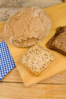 Assorted whole wheat bread