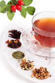 sortiment suchých čaje v paletě