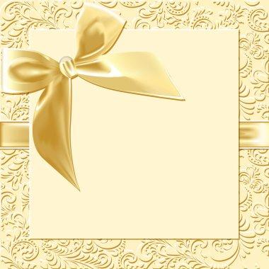 beige background bow