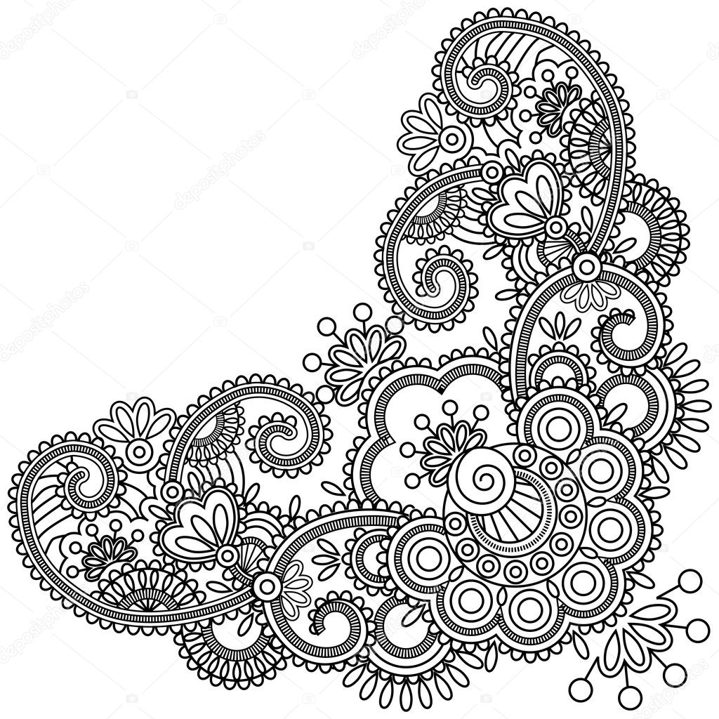 Easy Mehndi Designs Coloring Pages Coloring Pages