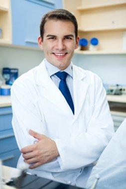 Handsome dentist