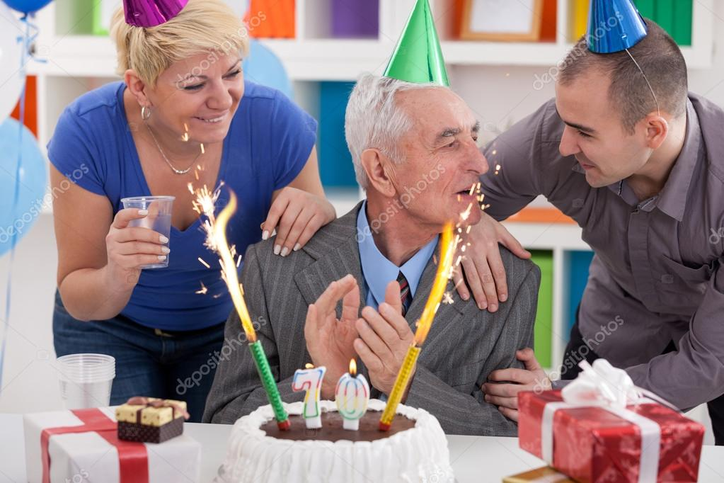 Party For 70th Birthday Stock Photo