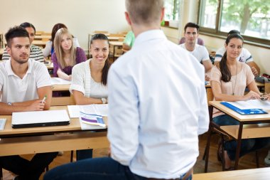 Students on lecturer