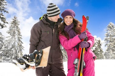 couple on ski holiday