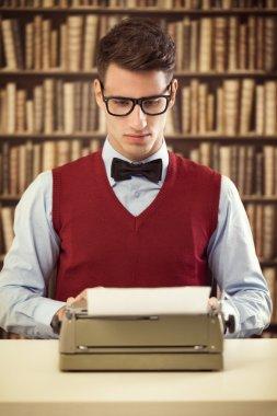 Vintage man  writer