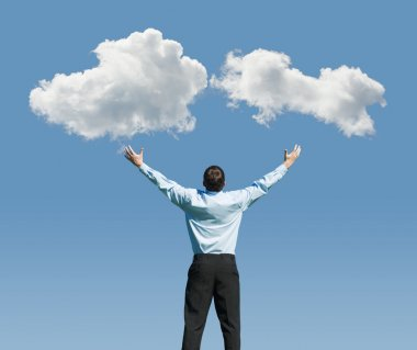 Man and clouds