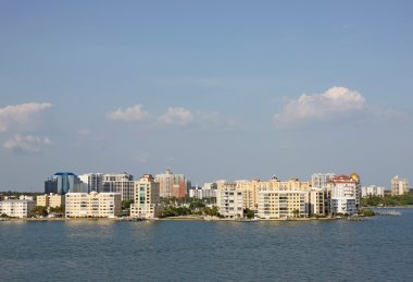 Skyline of Sarasota, Florida, viewed from above the water