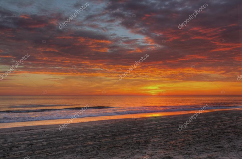 Sunrise over the beach at Nags Head, North Carolina