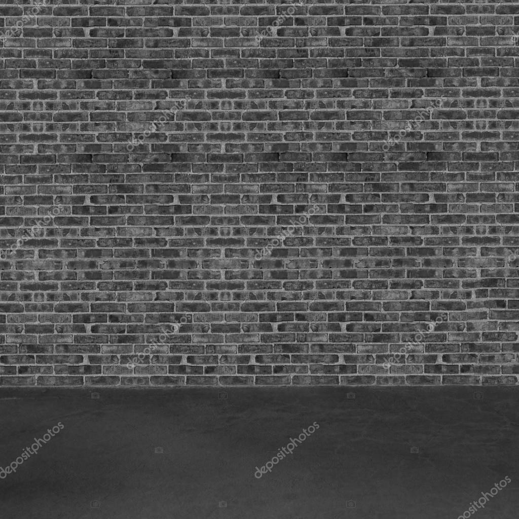 Int rieur de la salle avec plancher de b ton et mur de for Interieur noir et blanc