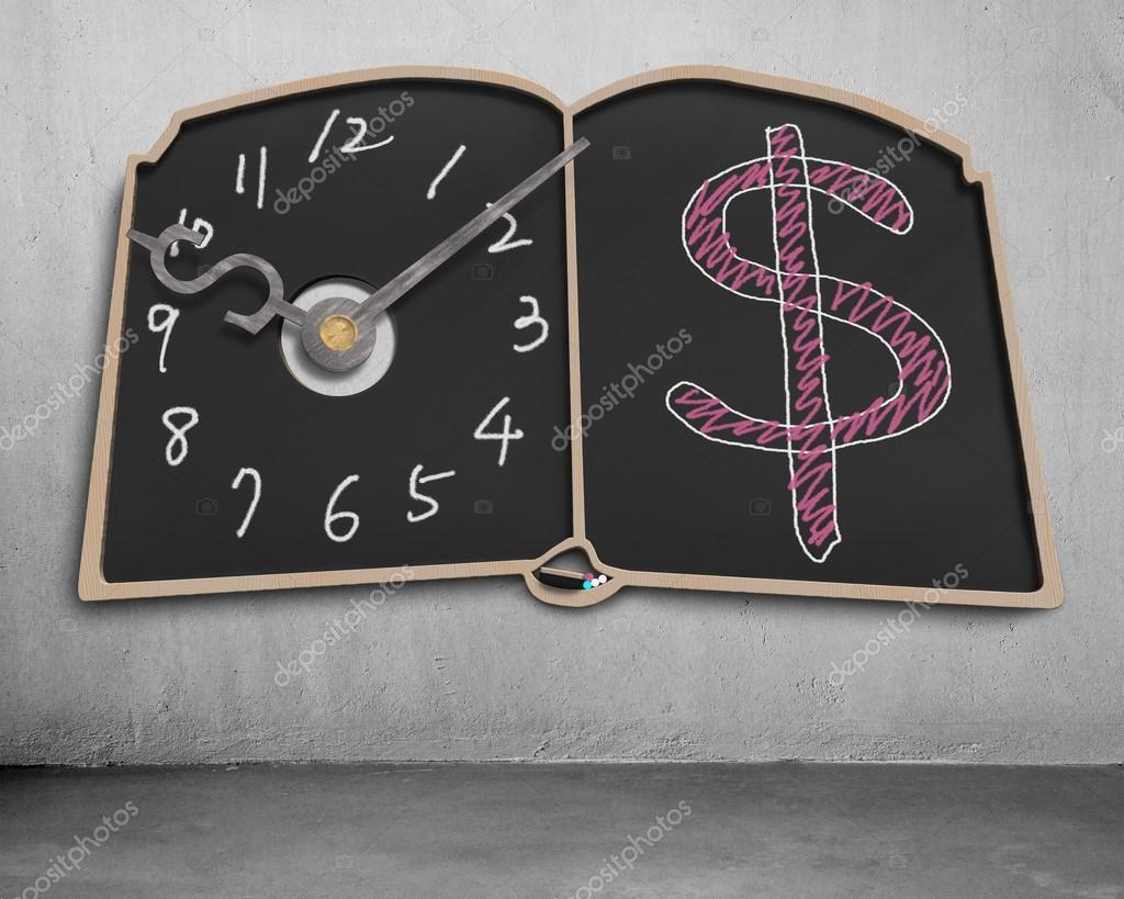Lavagna di forma di libro con lancette dell 39 orologio e for Lavagna con orologio thun