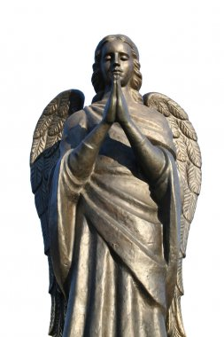 Fragment of a bronze sculpture of a praying angel 4