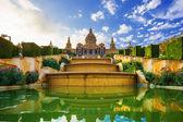 Fotografie Placa de espanya, národní muzeum v Barceloně. Španělsko