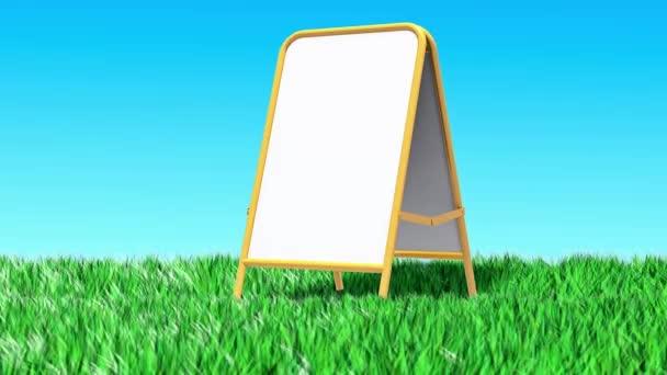 Nachrichtenbox auf dem Rasen Animation