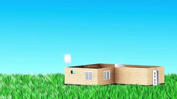 dům postavený na trávě