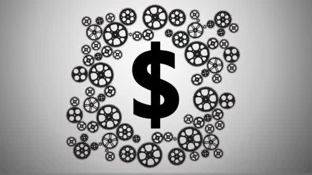 Dolar v animaci, ozubená kola