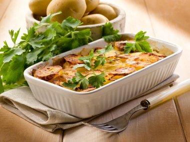 Homemade potato cake, vegetarian food