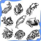 abstrakte Fische - Vektorset.