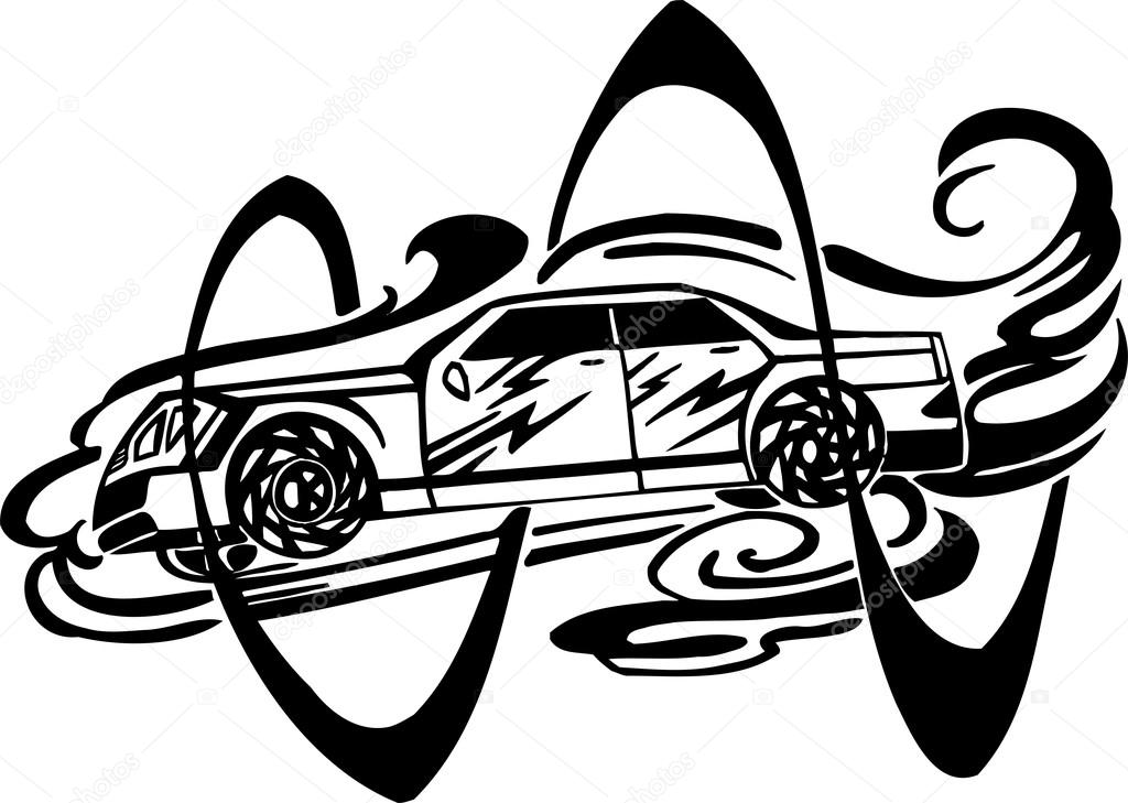 Racing Car Vector Illustration