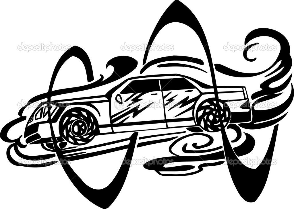 Racing Car Vector Illustration