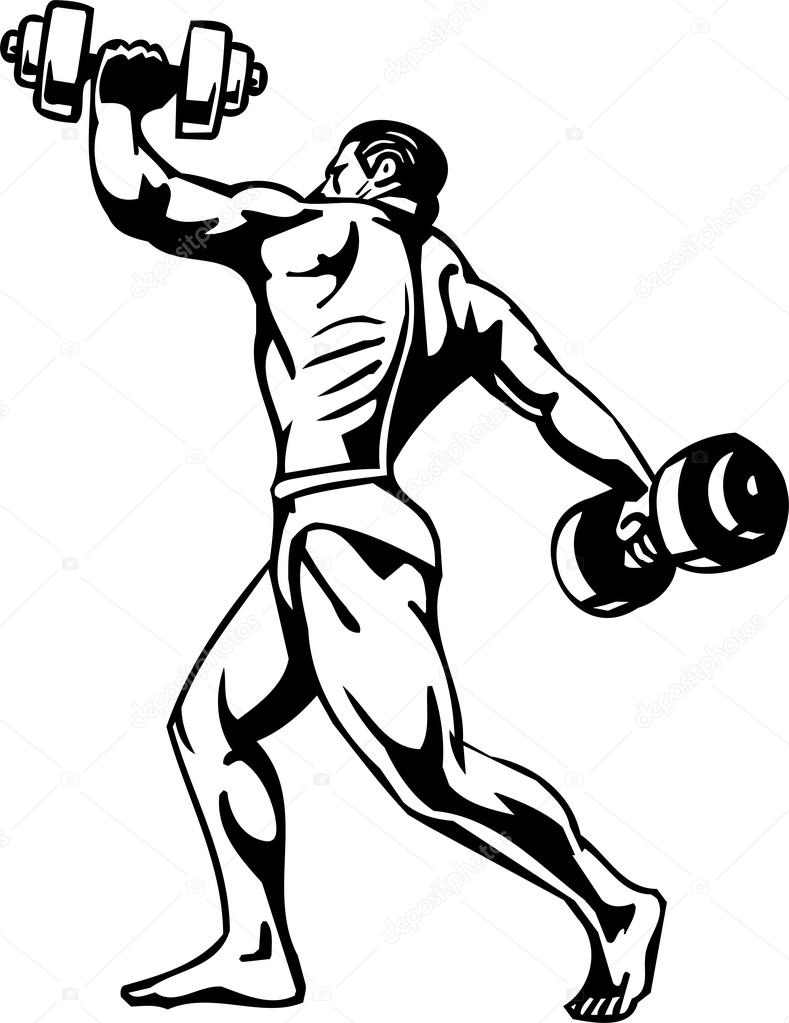 bodybuilding and powerlifting vector stock vector digital rh depositphotos com