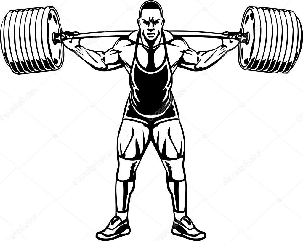 bodybuilding and powerlifting vector stock vector digital rh depositphotos com Powerlifting Vector Powerlifting Vector