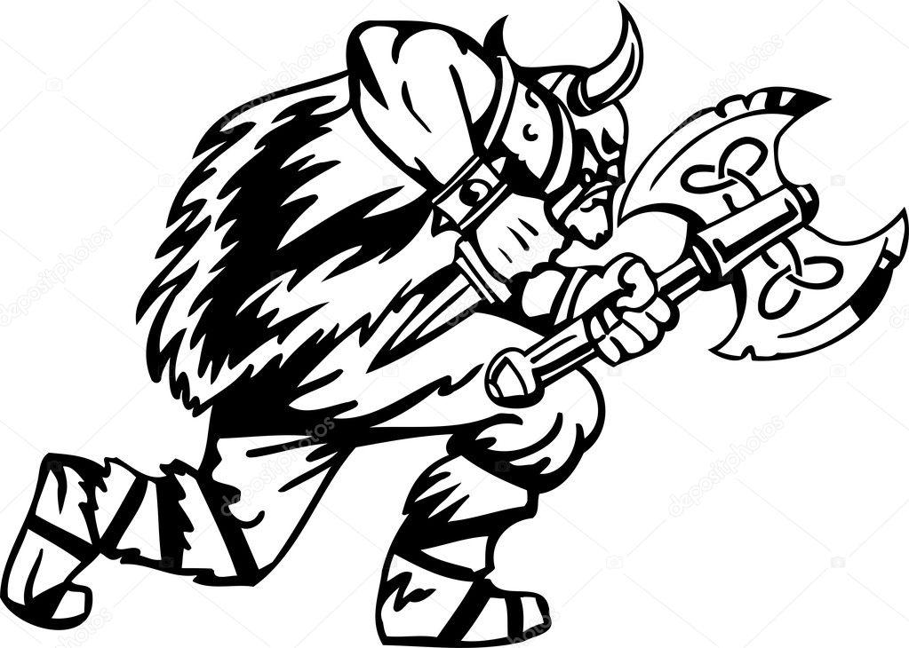 nordic viking vector illustration vinylready � stock