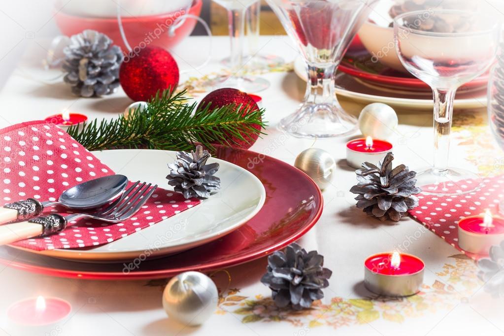 Christmas xmas eve table setting supper \u2014 Stock Photo #35751423 & Christmas xmas eve table setting supper \u2014 Stock Photo © Yotka #35751423