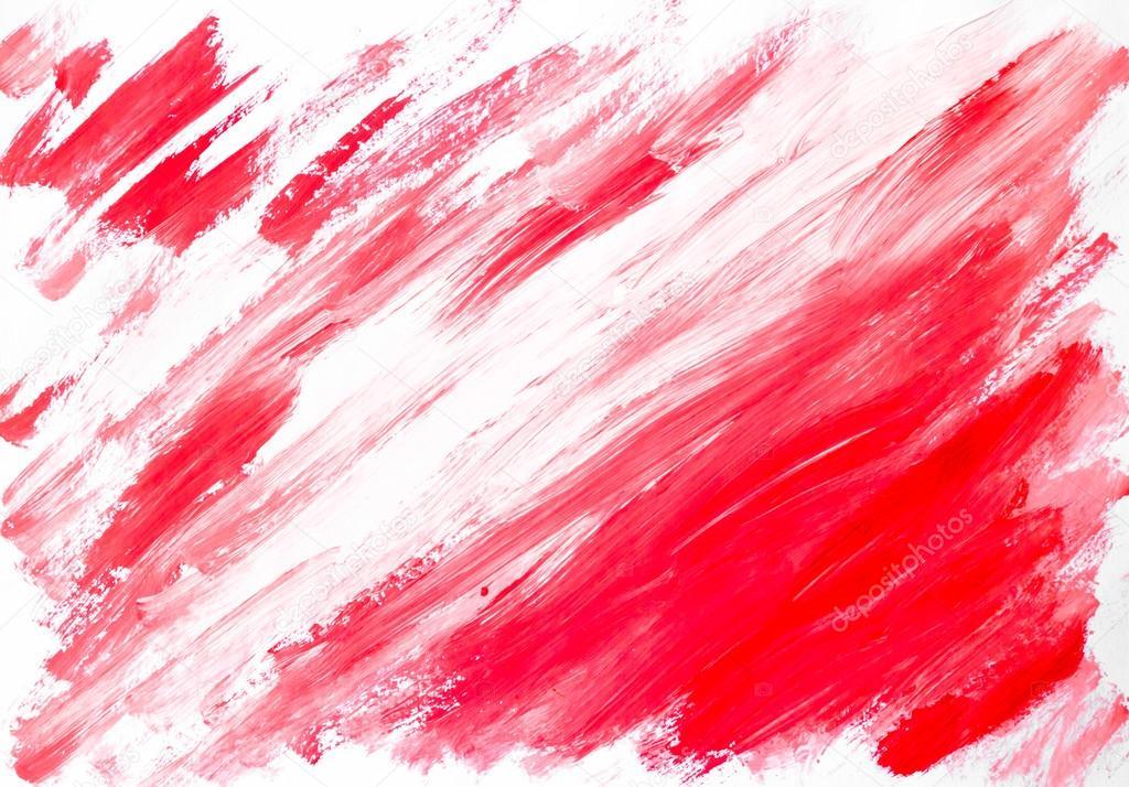 Fondo blanco rojo abstracto pintado a la acuarela foto - Papel pintado rojo y blanco ...