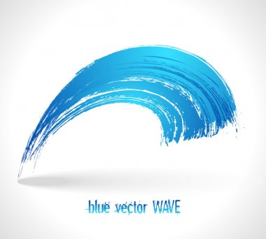 Blue vector wave