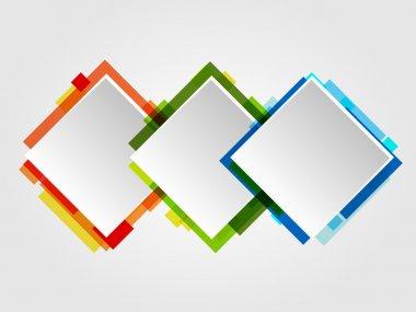 Romb Design Frames. Abstract Vector Business Design. stock vector