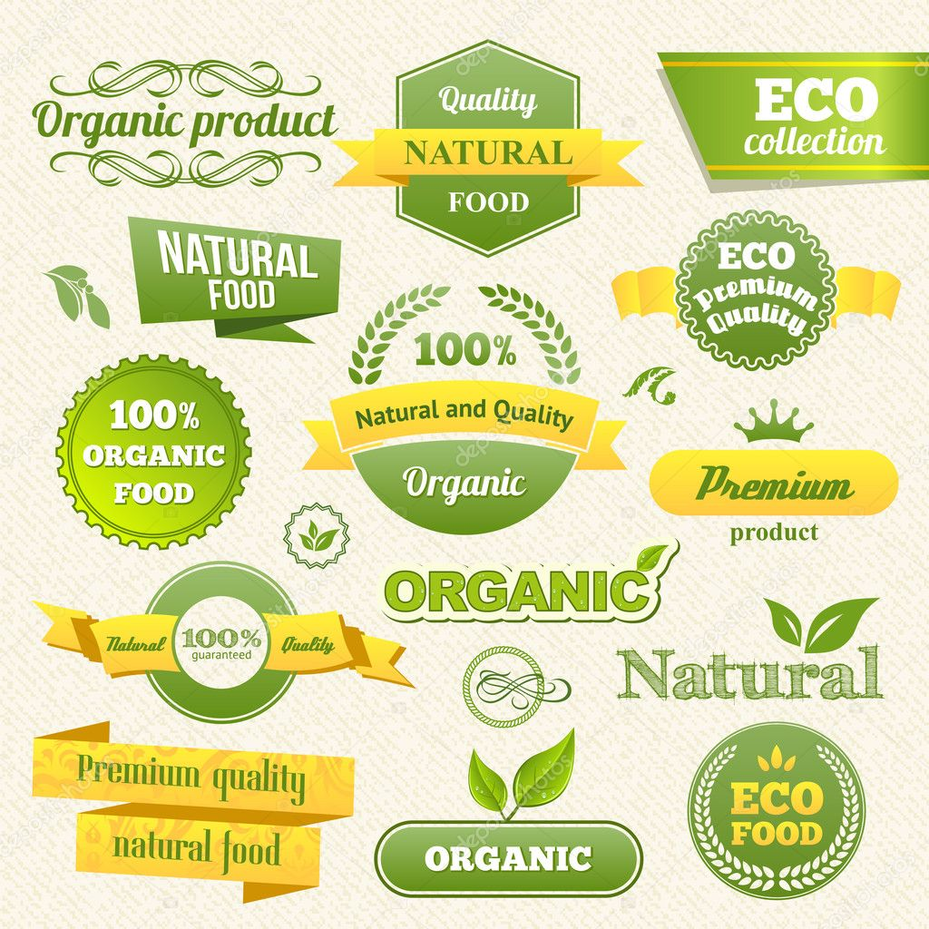 Vector Eco Stamps, Banners and Labels