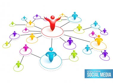 Social Media Network. Vector Illustration