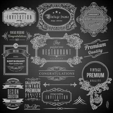 Retro Calligraphic design elements