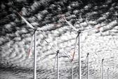 sfondo di potenza eolica