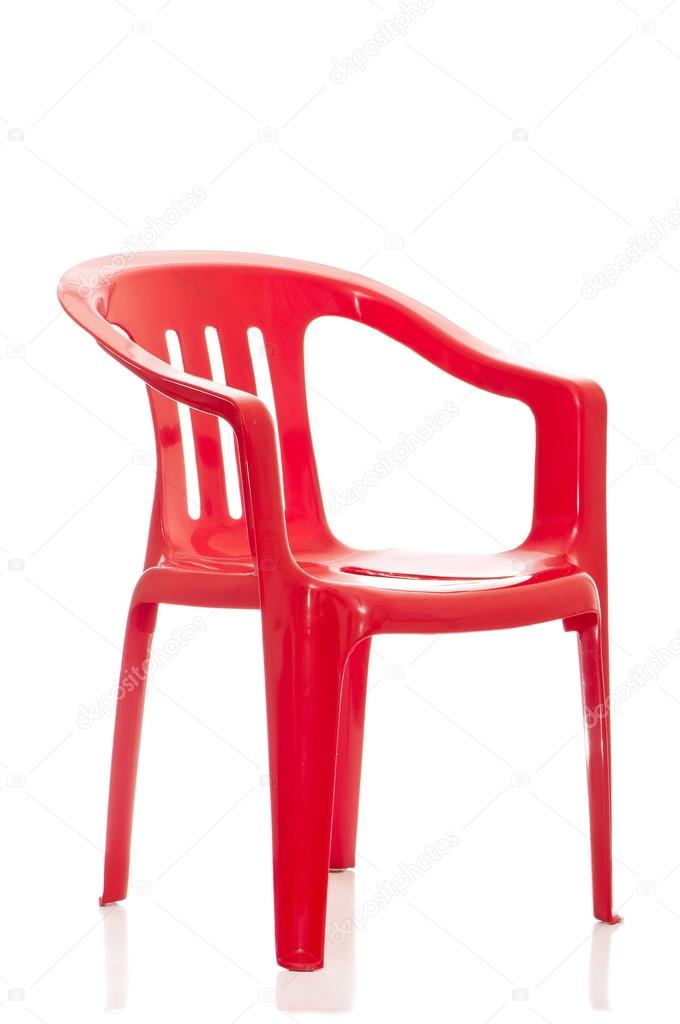 sedia in plastica su sfondo bianco — Foto Stock © antos777 #17133837